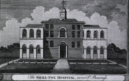 <p>The Small-Pox Hospital, near St. Pancrass.  Exterior view.</p>