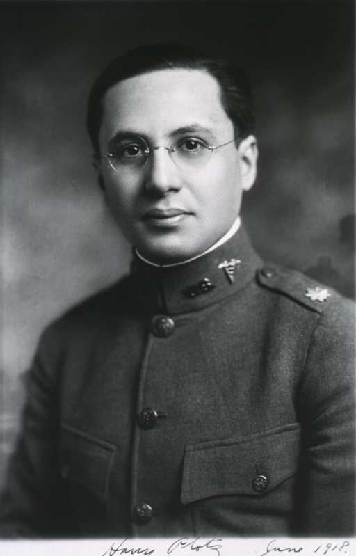 <p>Head and shoulders, front pose, in uniform, M.C.</p>