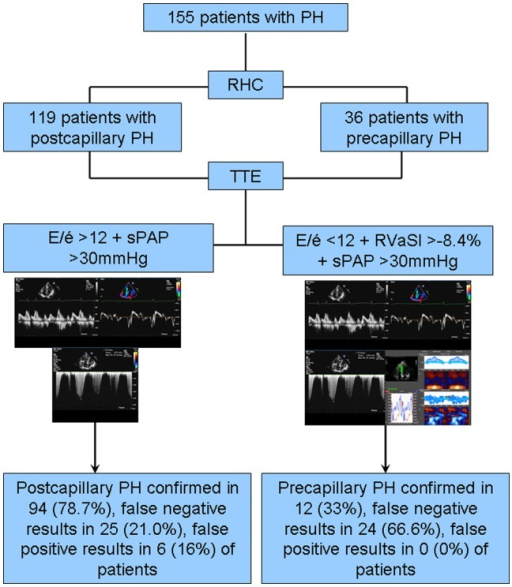 Incremental diagnostic value of apical strain and E/é in addition to echocardiographically determined sPAP for identification of patients with precapillary PH.AUC, area under the curve; CI, confidence interval; sPAP, systolic pulmonary arterial pressure; RVSl, right ventricular longitudinal strain.