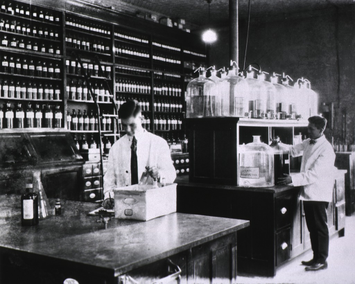 <p>Pharmacy interior views.</p>