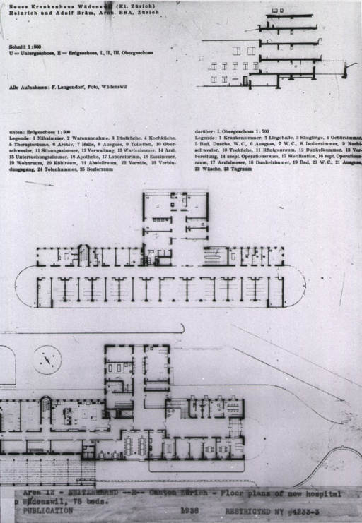 <p>Floor plans for 75 beds.</p>