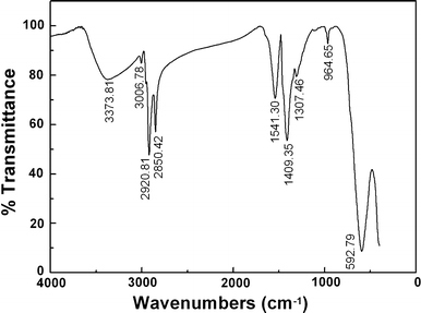 Ftir Spectra Of The As Synthesized Cofe2o4 Nanoparticle