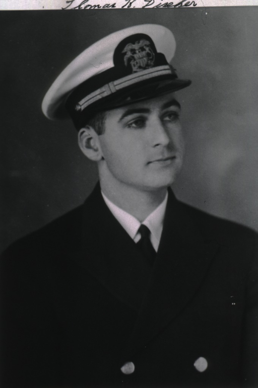 <p>Head and shoulders, full face, head to right, wearing USPHS uniform and white cap.</p>