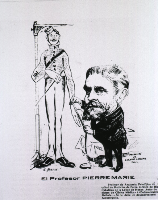 <p>Caricature from La Tribuna Medica, Chile.</p>