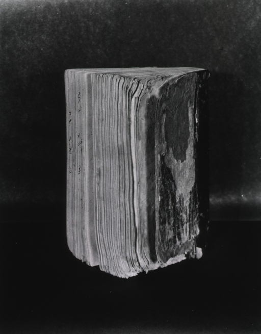 <p>View of the damages to the 1094 edition of Razi al-Hawi.</p>