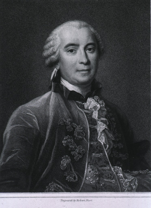 <p>Head and shoulders, full face, wearing embroidered waistcoat.</p>
