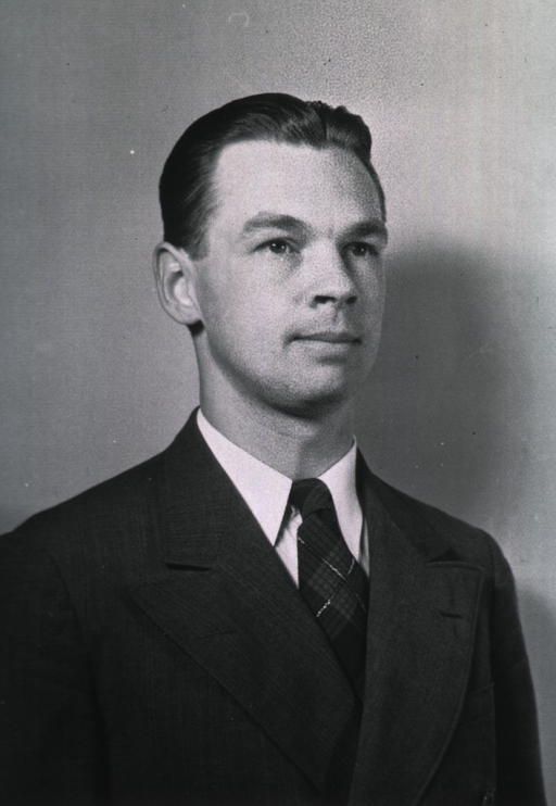 <p>Head and shoulders, full face, wearing suit.</p>