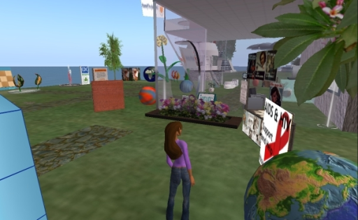 Maggie Waechter (the avatar of the author) visiting the Sexual Health SIM in Second Life [36]