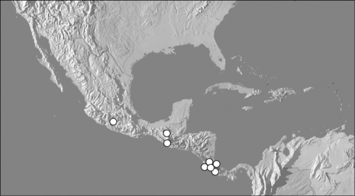 Map showing distributional records of Kaszabister carinatus.