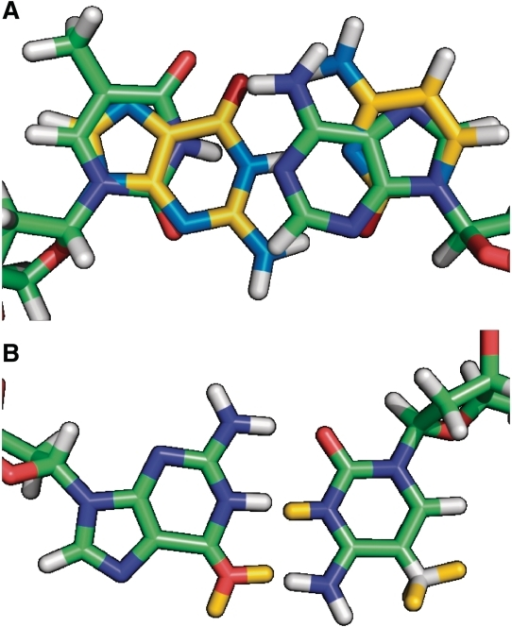 Nucleotide Hybrid Residues. (A) Definition Of The Hybri