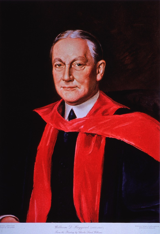 <p>Half-length, left pose, full face; wearing academic robe.</p>
