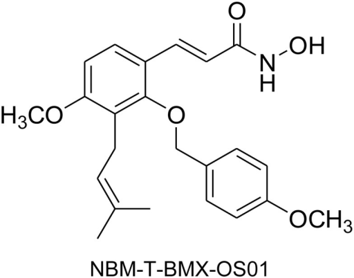 Chemical structure of BMX.