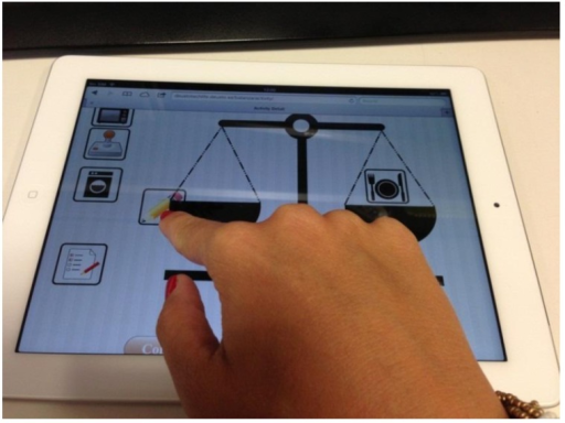 Online tool using a tablet device.