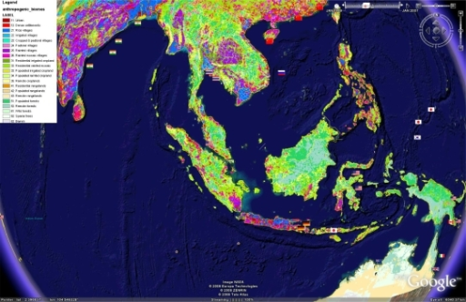 Anthropogenic biomes as described by Ellis and Ramankutty [25] in relation to tropical microbial marine biodiscovery efforts and the Google Earth™ file can be downloaded from www.eoearth.org/article/Anthropogenic_biome_maps