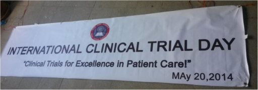 Motto for the celebration of the International Clinical Trial Day, Addis Ababa, Ethiopia.