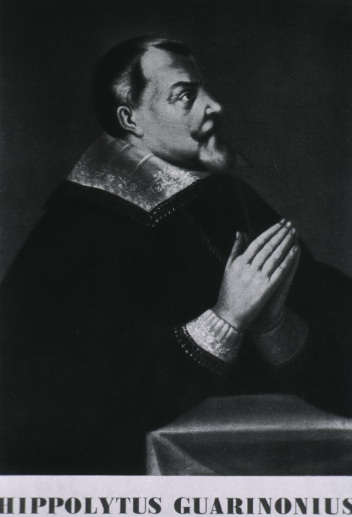 <p>Half-length, right profile, in prayerful position.</p>