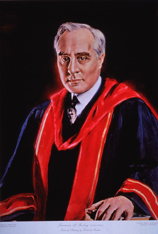 <p>Half-length, front pose, in academic robes.</p>