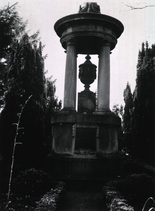 <p>Monument containing family ashes.</p>