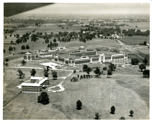 <p>Aerial view of the United States Public Health Service Hospital in Lexington, Kentucky.</p>