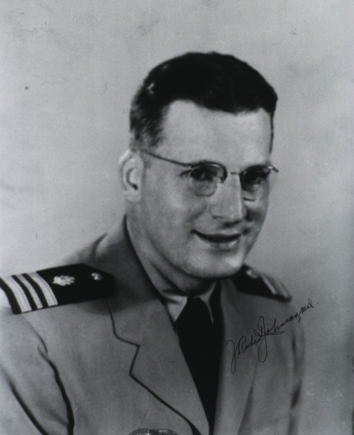 <p>Head and shoulders, full face, right pose; wearing uniform and glasses.</p>