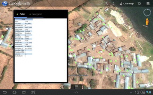 Navigating assigned houses: converting the up to date population database into a geodatabase displayed with Google Maps Mobile assists fieldworkers with tracking every house