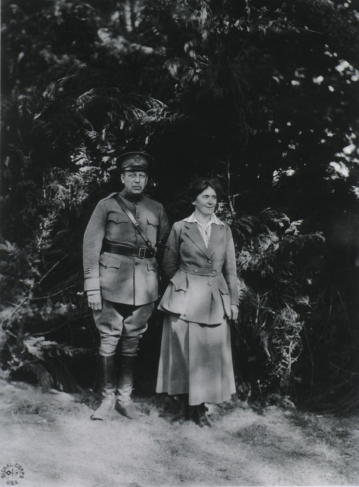 <p>Full length, front pose; shown with Captain D.L. Quirk.</p>
