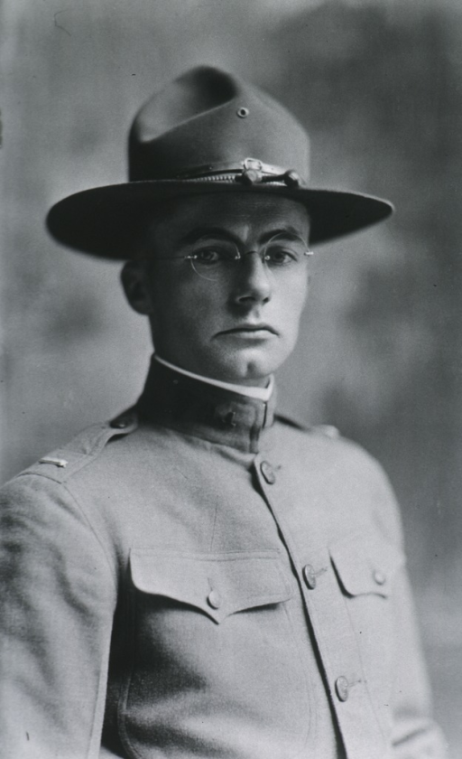 <p>Head and shoulders, right pose, in uniform and hat.</p>