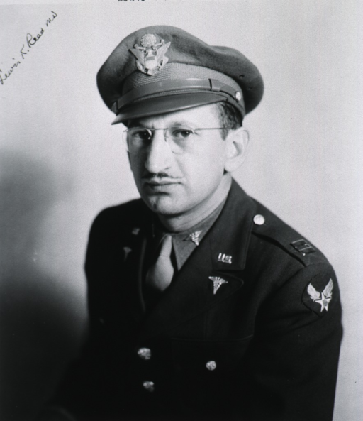 <p>Half length, full face, uniform, cap, captain, Air Force, M.C.</p>