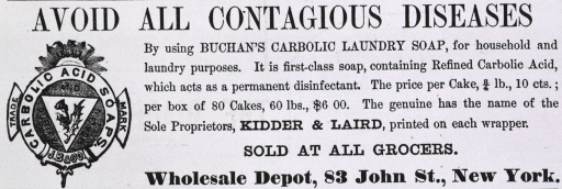 <p>Avoid all contagious diseases...[advertisement for Buchan's carbolic soap].</p>
