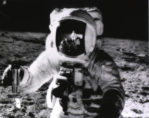 <p>An astronaut on the surface of the moon.</p>