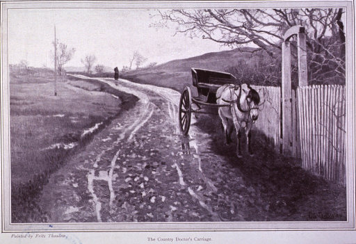 <p>The country doctor's carriage.</p>