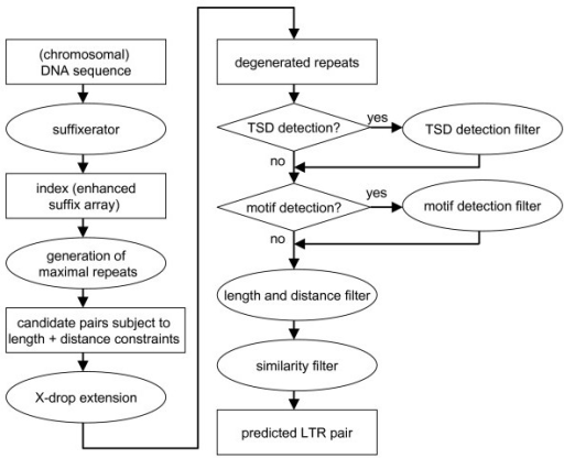 Flowchart Of The Ltr Retrotransposon Prediction Process