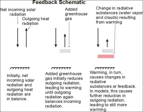 Schematic explanation for possible feedback effects. Source: Lindzen [21].