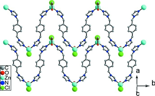 A view of two-dimensional supramolecular diagram.
