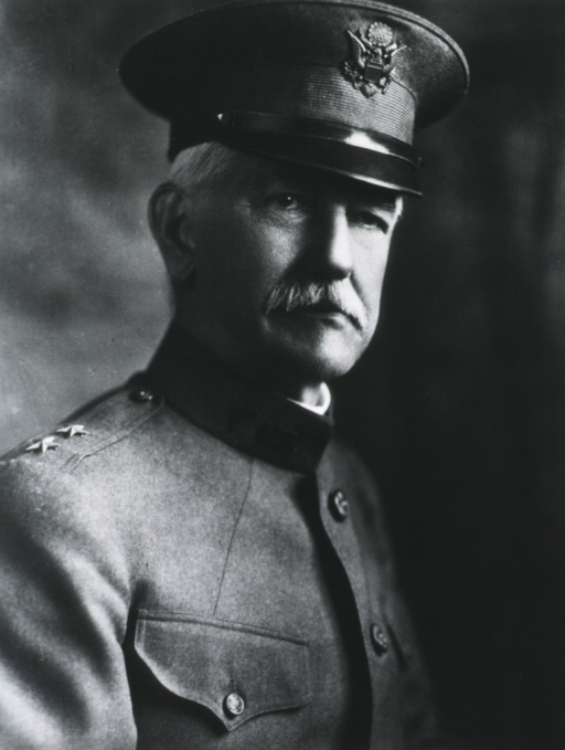 <p>Head and shoulders, right pose; wearing uniform and cap (Major General).</p>