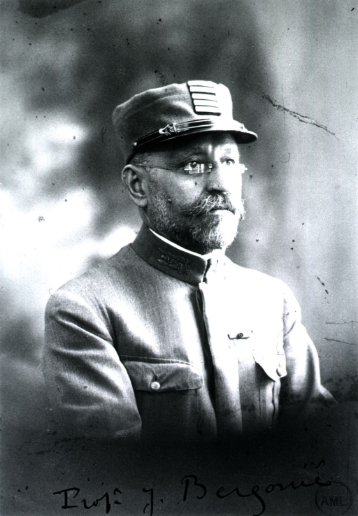 <p>Half-length, to right, wearing uniform and cap.</p>