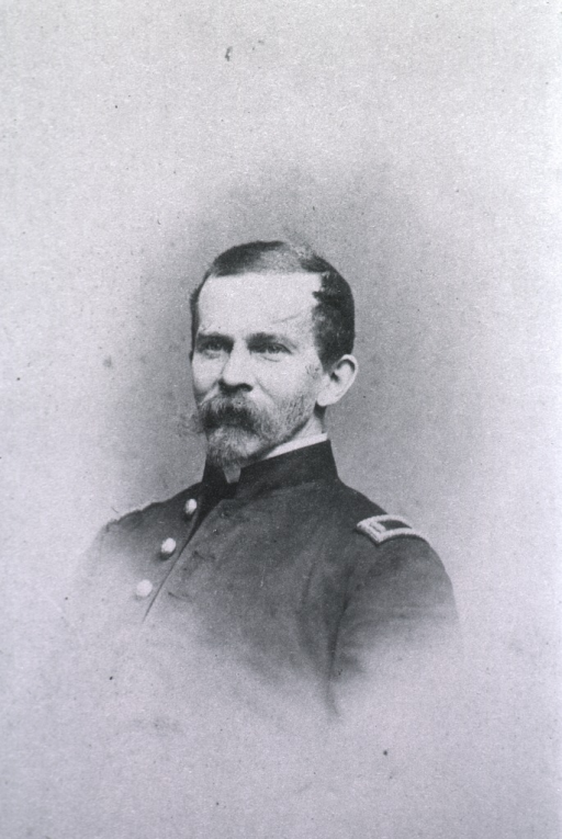 <p>Head and shoulders, full face, in uniform.</p>