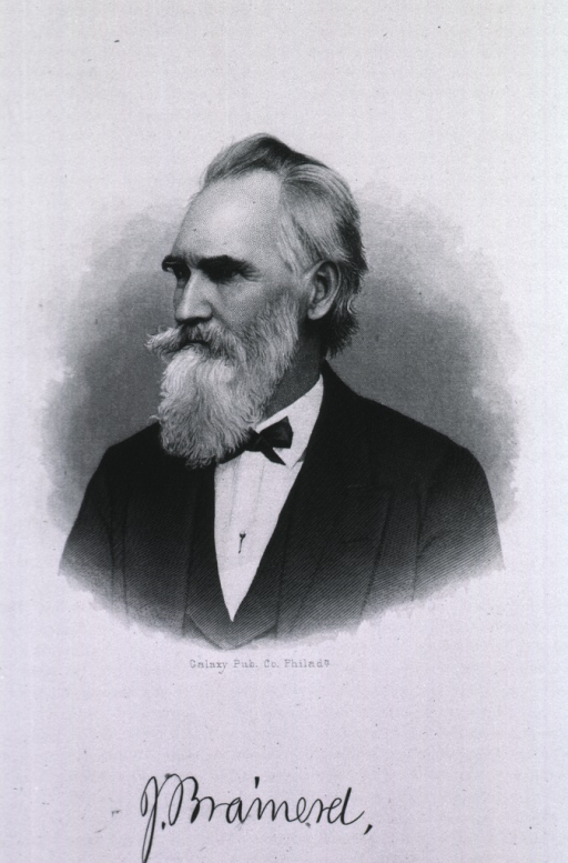 <p>Left pose, long beard and mustache.</p>