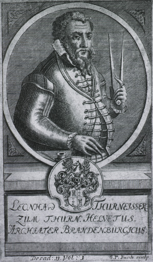 <p>Half length, standing, holding instrument; right pose; coat-of-arms.</p>