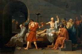 The Death of Socrates by Jacques-Louis David. With permission from the New York Metropolitan Museum of Art through the Images for Academic Publishing initiative.