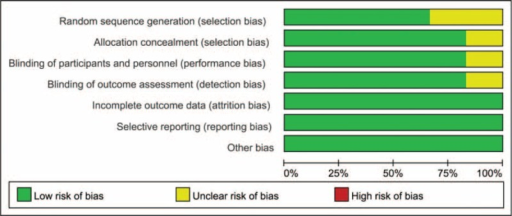 The risk of bias graph.