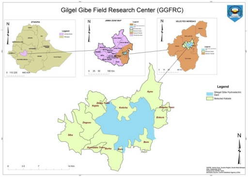 Location Map Of The Study Area Gilgel Gibe Field Research Center