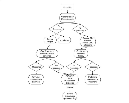 Proposed Treatment Algorithm In Pouchitiscd Crohns