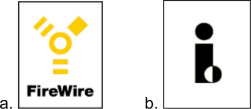 Symbols that represent the IEEE1394 standard. These sym | Open-i