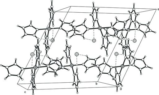 A packing diagram of the title compound. Dashed lines indicate N—H⋯Cl hydrogen-bonding inter­actions.