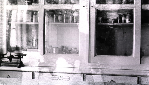 <p>Interior of a dispensary aboard a floating hospital.</p>