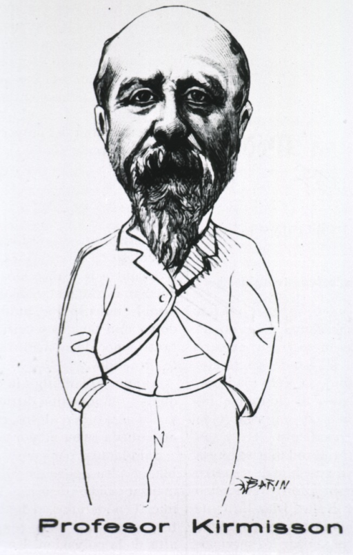 <p>Caricature:  Three-quarter length portrait, full face; hands in pockets.</p>