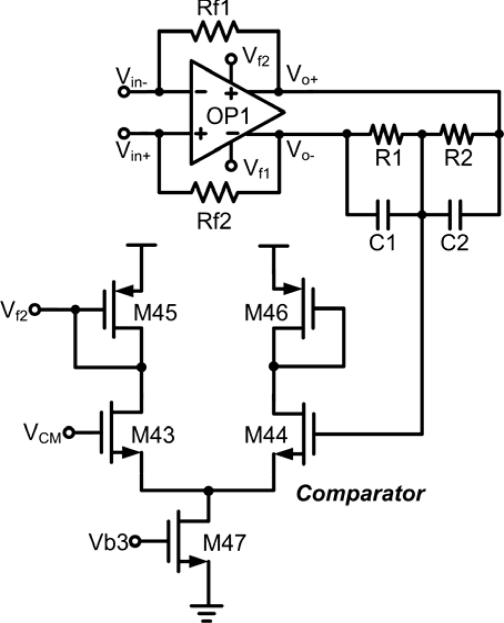 common mode feedback circuit of the second stage