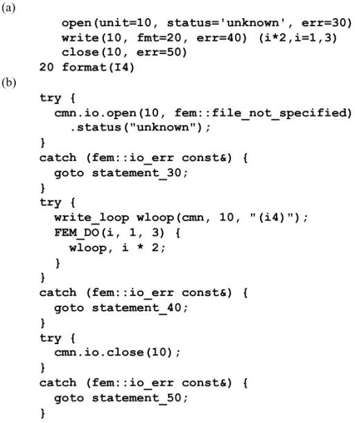 Example illustrating the design of theFEMI/O emulation  | Open-i