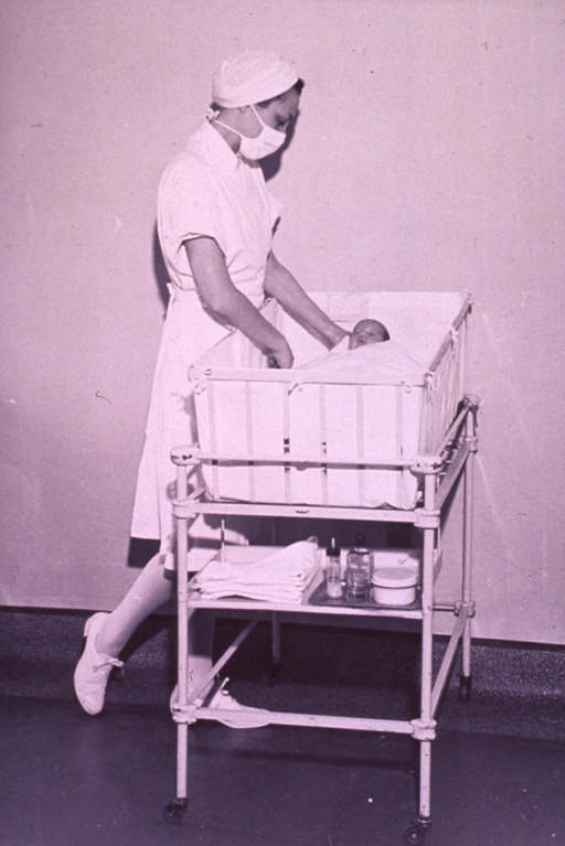 <p>A nurse is providing care for a newborn.</p>